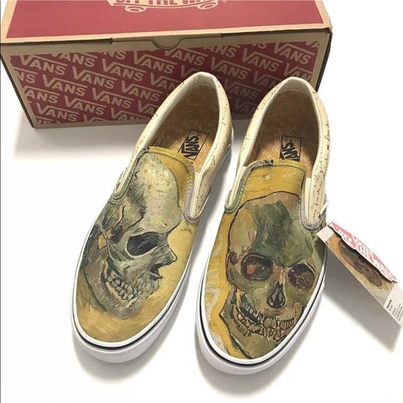 Vans x Vincent Van Gogh Museum Skull Slip-Ons 949542d33